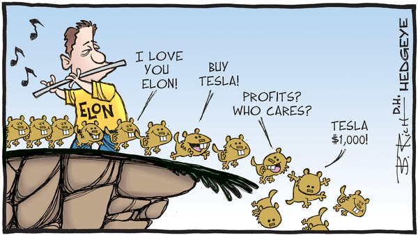 "Why Our Industrials Analyst Called Tesla A ""Blindingly Obvious Short"" - 06.07.2018 Tesla cartoon"
