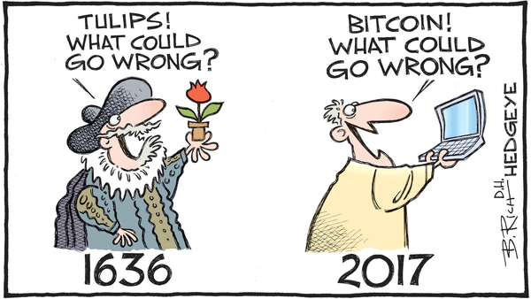 Howe on Cryptocurrencies: 'You Gotta Be Crazy to Be Long This Stuff' - 12.05.2017 bitcoin cartoon
