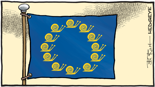 Dear Europe, Follow Ireland, Not France - 07.05.2018 EU flag cartoon