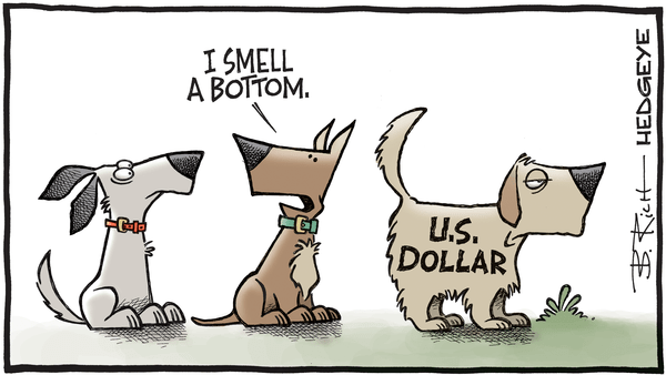 A Weak US Dollar Will Not Make America Great - 04.24.2018 dollar bottom cartoon