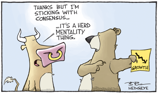 The Heroic Assumptions Behind Today's Unprecedented Equity Valuations - consensus cartoon 07.29.2015