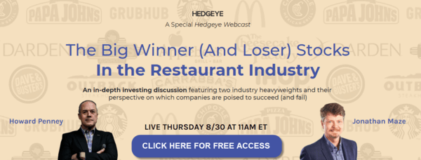 WEBCAST REPLAY: The Big Winner (And Loser) Stocks In the Restaurant Industry - restaurants event11