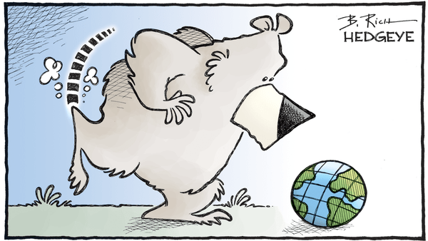 A Simple Visual of Global #GrowthSlowing - 07.10.2018 bear kicking globe cartoon