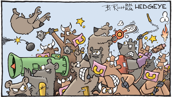Our Call on Long-Term Bonds: An Email from Senior Macro Analyst Darius Dale - 02.06.2018 bears and bulls cartoon