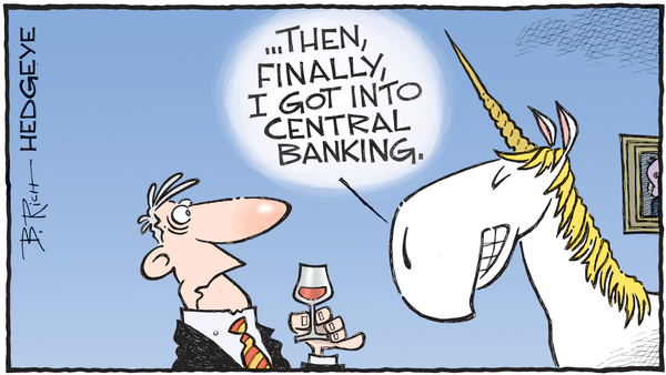 Cartoon of the Day: Cocktails - 11.01.2018 central bank unicorn cartoon