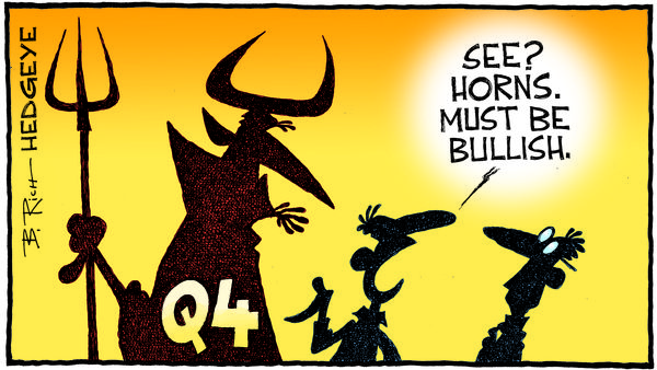 Yikes! Buffett Buys $4 Billion Stake In (Momentum Stock) JPMorgan - 10.18.2018 Q4 devil cartoon