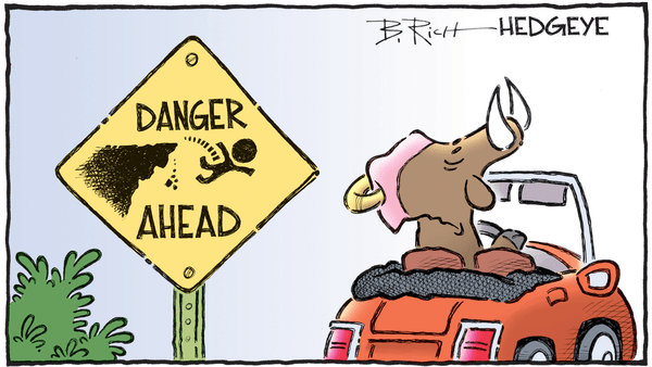 Global Growth Is Deteriorating - 10.03.2018 danger ahead cartoon
