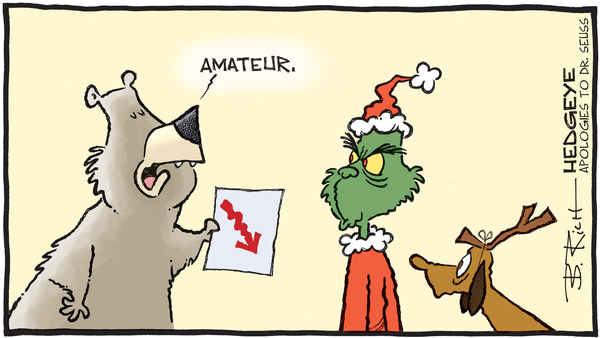 Cartoon of the Day: The Real Grinch? - 12.23.2018 Grinch and bear cartoon