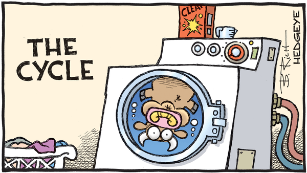 Cartoon of the Day: Tumble Dry - 01.30.2019 cycle cartoon