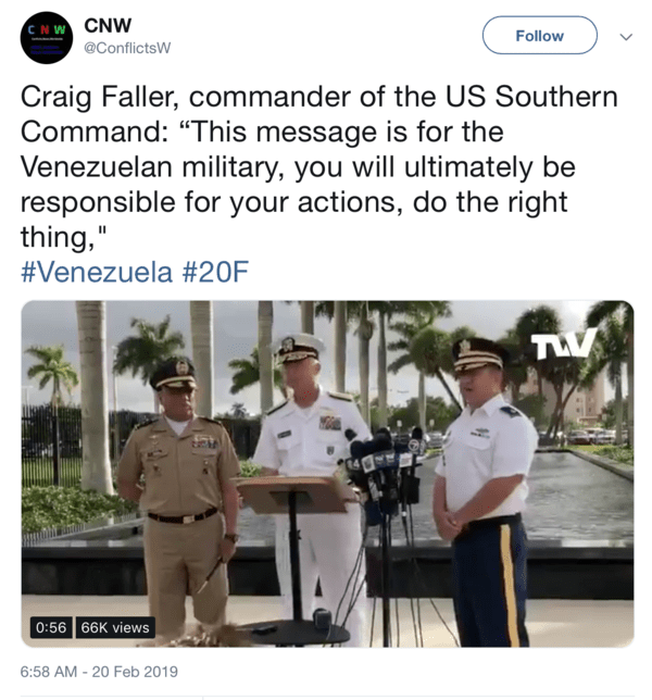 D-Day in Venezuela: Delivery Day & Decision Day - Southcom