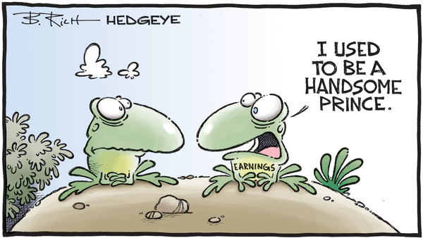 Earnings Growth Cut In Half From Its Cycle Peak... What's Next? - 02.28.2019 Earnings frog cartoon