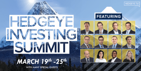 Webcast (Free Access): Hedgeye Investing Summit – March 19-25 - Guests twitter