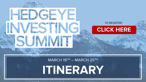 Webcast Replays (Free Access): Hedgeye Investing Summit - itinerary