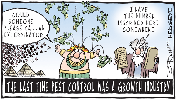 Rollins (ROL) --> Pricing Swarm Exterminated: +50% Downside - Call Today - Pest control cartoon