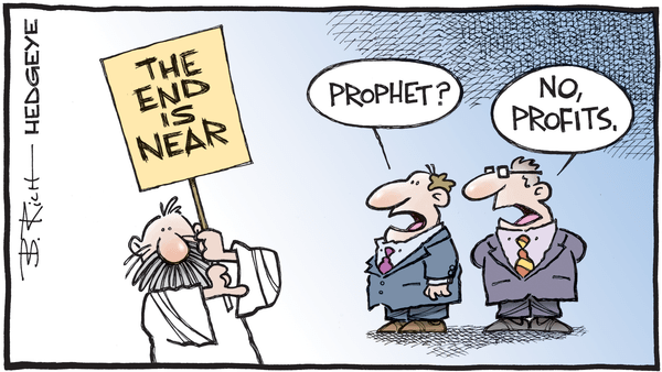Cartoon of the Day: Market Prophet? - 04.08.2019 profits cartoon