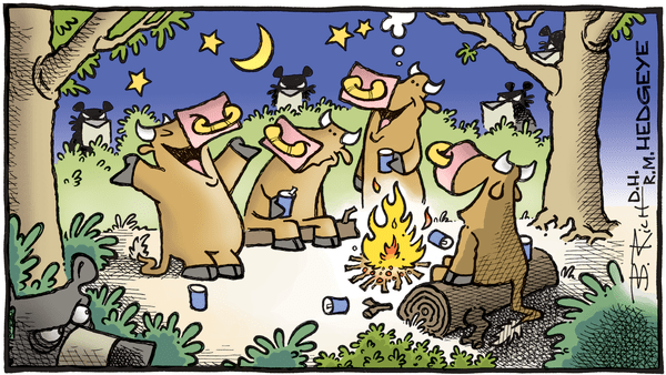 Cartoon of the Day: Kumbaya - 04.23.2019 bulls camping