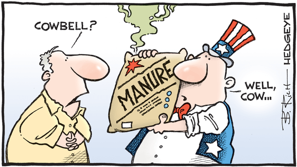 Cartoon of the Day: Fed Fertilizer - 04.26.2019 cowbell cartoon