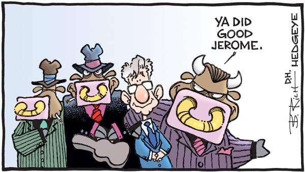 """The Fed Can't Wait To Cut Rates!"" - 01.31.2019 Powell mafia cartoons"
