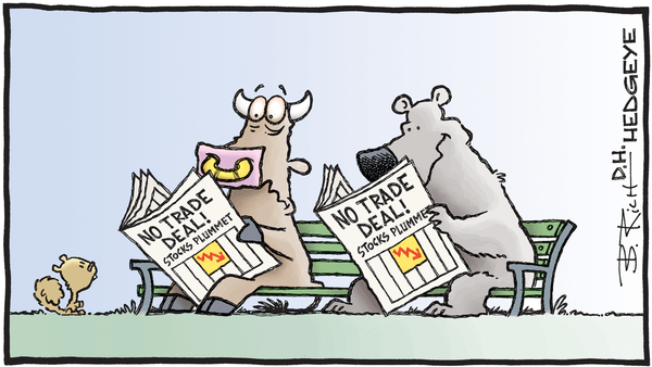 Cartoon of the Day: A Tale Of Two Trades - 05.13.2019 bull bear trade deal plunge cartoon
