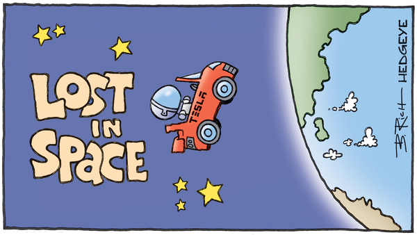 "Cartoon of the Day: ""Fremont, We Have a Problem"" - 05.20.2019 TESLA Lost In Space cartoon"