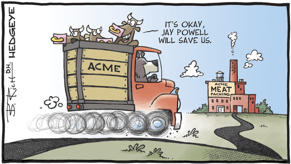 Cartoon Of The Day: Meat Truck - 06.10.2019 Powell will save us cartoon