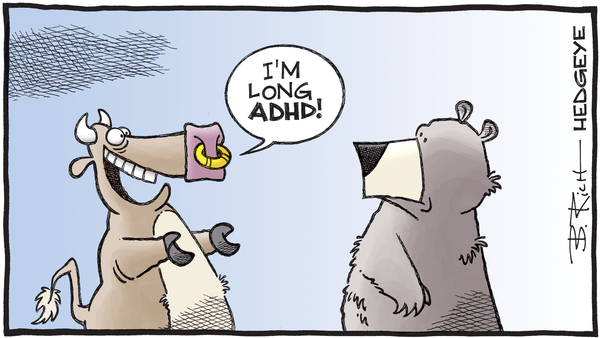 Cartoon of the Day: A Lack of Attention - 06.12.2019 bull ADHD cartoon