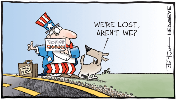 Does the US Need a Rate Cut? No. - 05.28.2019 dovish Fed cartoon