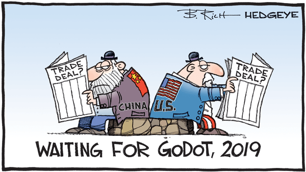 Cartoon of the Day: Waiting for A Trade Deal - 06.25.2019 Godot China trade deal cartoon