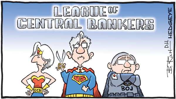 Cartoon of the Day: To The Rescue! - 07.18.2019 Central Banker League cartoon