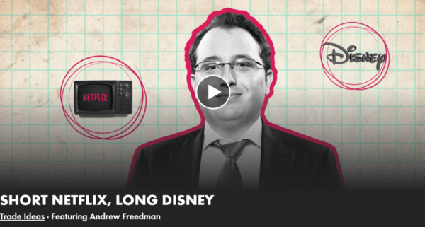 Short Netflix, Long Disney: A Real Vision Interview With Andrew Freedman - hedgeye andrew freedman real vision netflix disney
