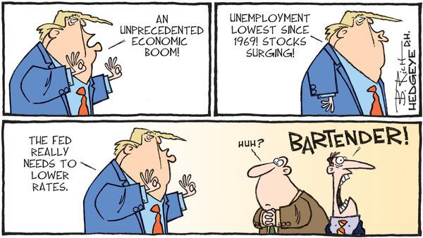 "These 5 Cartoons Sum Up ""Fed Policy"" Right Now - z hedgeye trump fed powell 4"