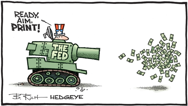 Charlatans, Imbeciles and Fed Governors - 07.25.2019 Fed ready aim print cartoon