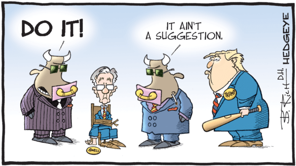 The Fed's Rate Cut was a Mistake - z hedgeye trump fed powell cartoon