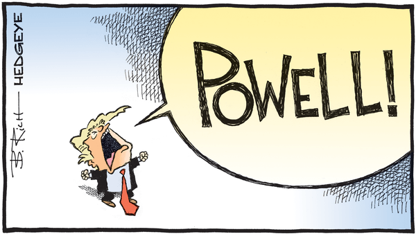 The Politicalization of the Fed and How to De-Politicalize It - 08.15.2019 POWELL  cartoon