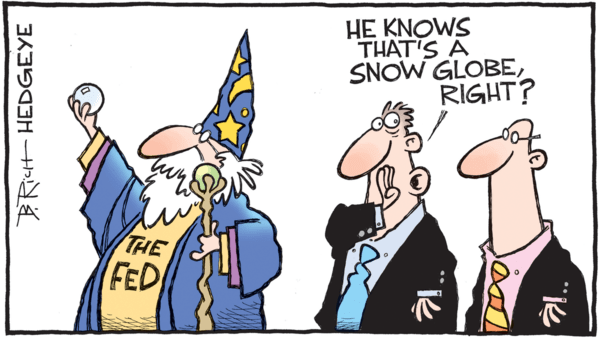 Self-Fulfilling Yield Curves - z hedgeye 09.19.2018 FED cartoon