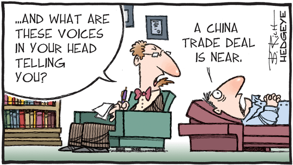 Cartoon of the Day: Voices - 08.27.2019 trade deal voices cartoon
