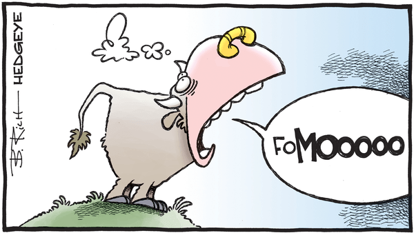 Cartoon of the Day: Herd Mentality  - 08.29.2019 FoMOOOO cartoon