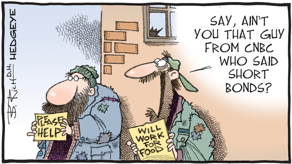 Cartoon of the Day: Short Bonds? - 09.04.2019 CNBC short bonds cartoon