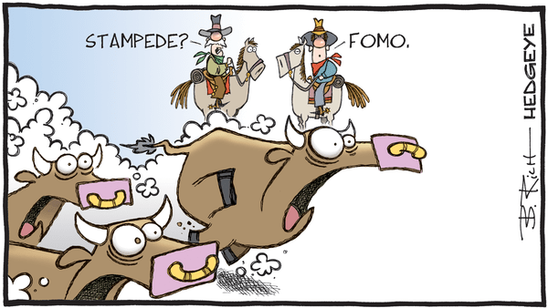 Cartoon of the Day: Stampede  - 09.09.2019 FOMO stampede cartoon