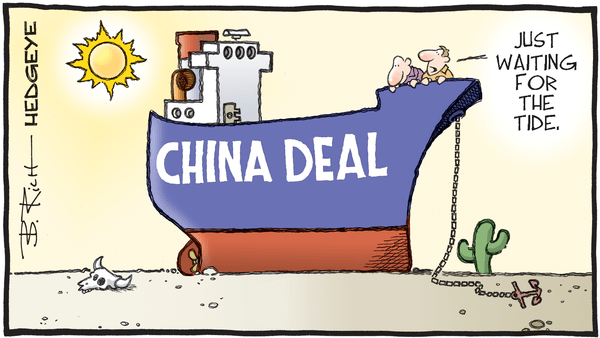 Cartoon of the Day: High and Dry - 09.12.2019 China deal desert cartoon