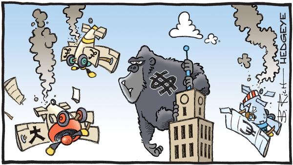 Cartoon of the Day: King Dollar - 09.13.2019 King Kong dollar cartoon