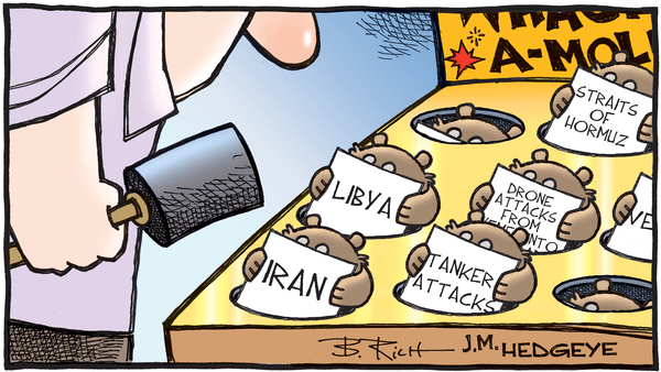 GAME OF DRONES: World's Biggest Oil Asset Damaged in Saudi Arabia Attack - Oil whack a mole cartoon