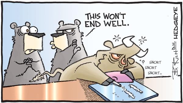 Cartoon of the Day: Coked-Up Bull - 10.29.2019 bull on drugs cartoon