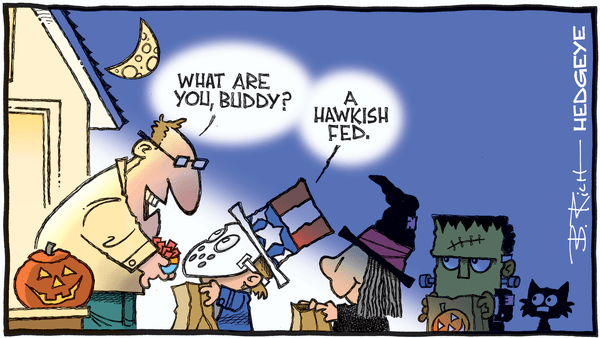 Cartoon of the Day: Scary Costume  - 10.30.2019 Fed Halloween cartoon