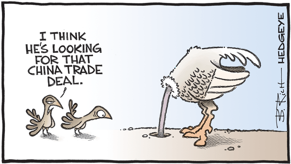 Cartoon of the Day: Head In The Sand  - 11.07.2019 China trade deal ostrich caroon