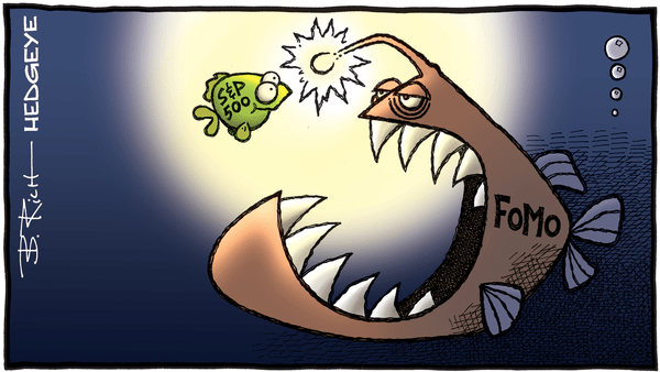 Don't Chase the Bait. Fade the FOMO - hedgeye 11.05.2019 FOMO S P500 cartoon  1