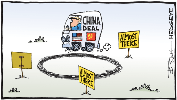 Cartoon of the Day: Driving In Circles - 11.29.2019 China deal round in circles cartoon