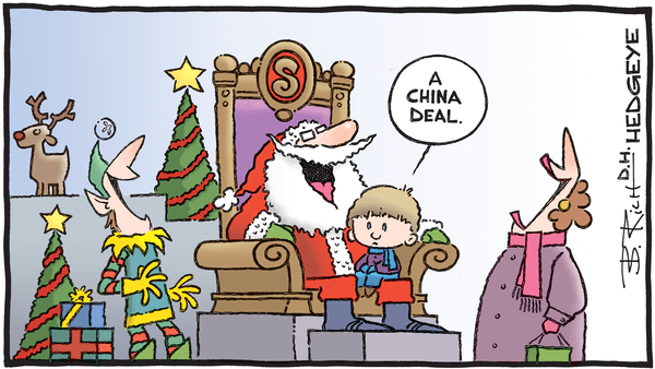 Cartoon of the Day: Wish List - 12.02.2019 China Deal Santa cartoon