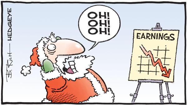Cartoon of the Day: Checking It Twice - 12.04.2019 earnings Santa cartoon