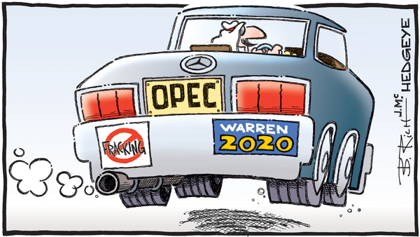 Cartoon of the Day: Bumper Stickers - 12.12.2019 OPEC Warren cartoon
